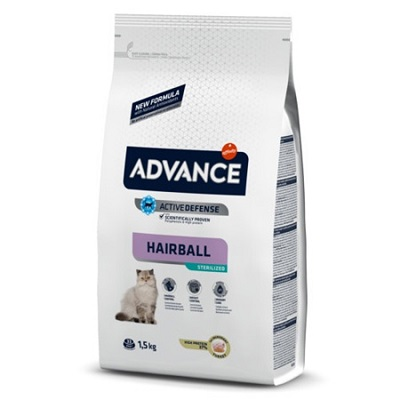 ADVANCE CAT HAIRBALL STERILIZED KG 1,5 TACCHINO
