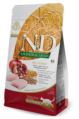 N&D LOW GRAIN CAT NEUTERED POLLO 1,5 KG