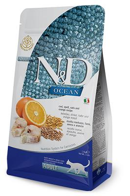 N&D OCEAN GATTO LOW GRAIN MERLUZZO 300 GR