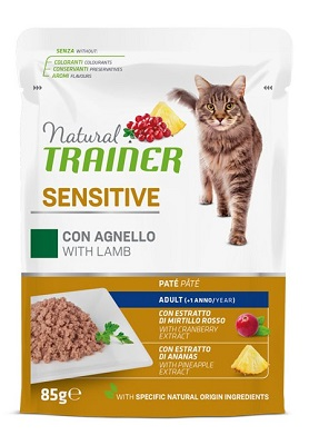 NATURAL TRAINER CAT SENSITIVE AGNELLO BUSTA 85 G