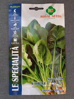 BUSTA SPINACIO CORNET F1 SPECIALITA ROYAL SEEDS