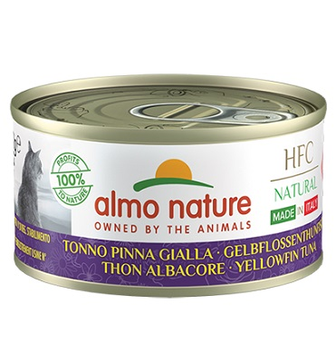 HFC NATURAL CATS MADE IN ITALY 70 G TONNO PINNA GIALLA
