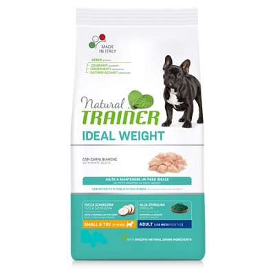 NATURAL TRAINER IDEAL WEIGHT MINI CON CARNI BIANCHE KG 7