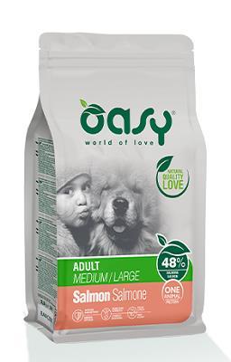 OASY DRY DOG OAP ADULT MEDIUM-LARGE SALMONE KG 2,5