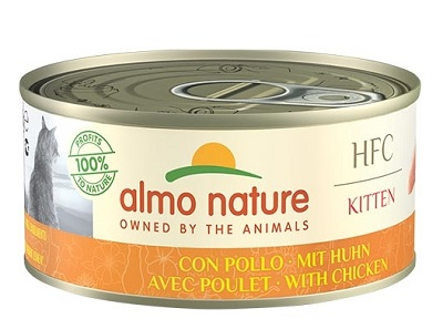 ALMO NATURE HFC COMPLETE CATS 150 GR KITTEN POLLO