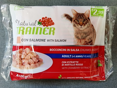 FLOWPACK NATURAL TRAINER CAT BUSTA 4X85G SALMONE