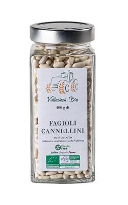 CANNELLINI GR 400 IN VETRO VALLESINA BIO