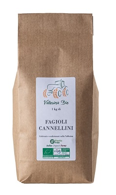 FAGIOLI CANNELLINI KG 1 IN CARTA VALLESINA BIO