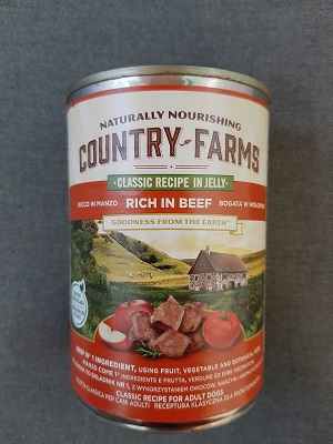 COUNTRY FARMS WET DOG CLASSIC MANZO 400 GR