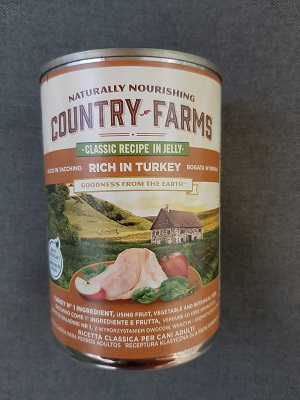 COUNTRY FARMS WET DOG CLASSIC TACCHINO 400 GR