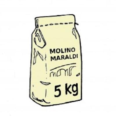 FARINA DI GRANO TENERO TIPO O KG.5 MARALDI
