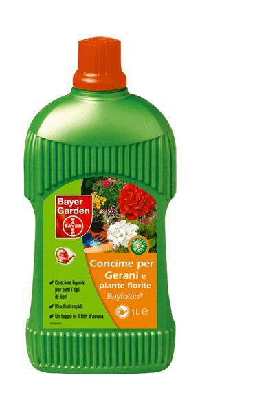 CONCIME PER FIORITURE ABBONDANTI IN BREVE TEMPO BAYFOLAN GERANI  1 litri