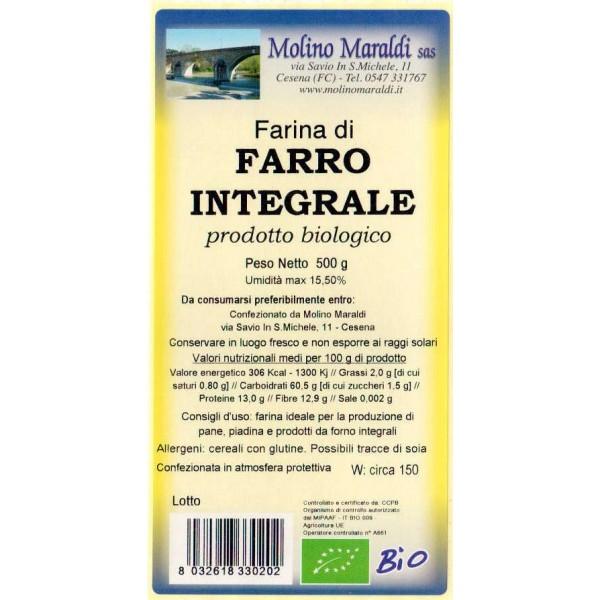 FARINA DI FARRO INTEGRALE BIO GR.500 MARALDI