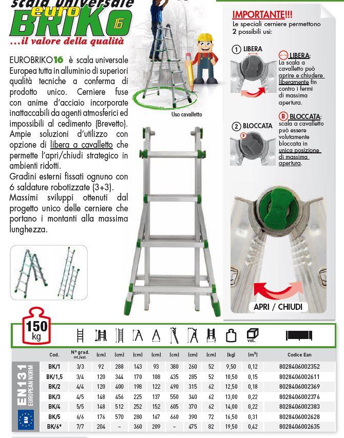SCALA TELESCOPICA  ALLUNGABILE BK-2 GRADINI 4+4